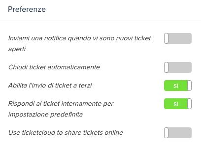CRM con supporto clienti ticket